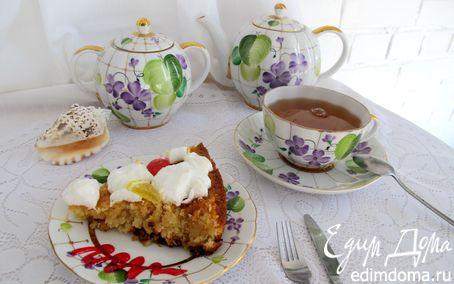 Рецепт Лимонный пирог с кокосом и безе