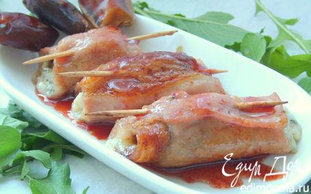 Рецепт Свиные рулетики с фаршированными финиками