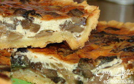 Рецепт Открытый пирог с шампиньонами