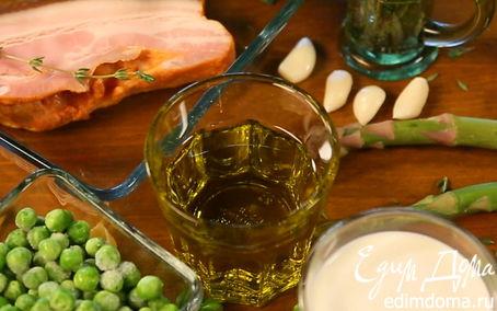 Рецепт Паста орекьетте с зеленым горошком, спаржей и грудинкой