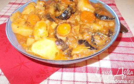 Рецепт Густой суп с баклажанами и картофелем