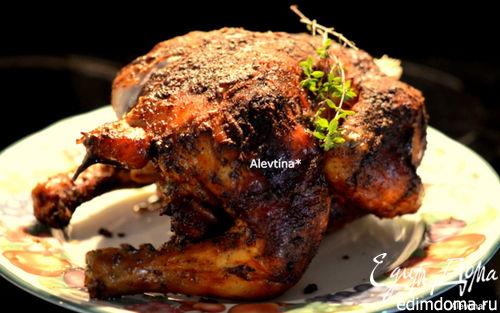 Рецепт Курица на пивной банке