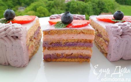 Рецепт Чеpнично-клубничный торт из печенья