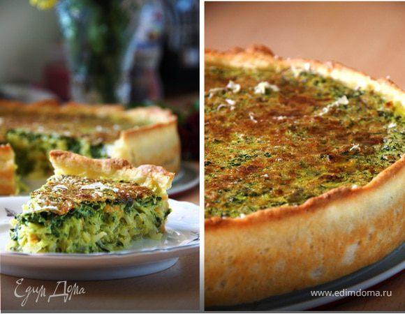 Шпинатно-капустный пирог с тмином