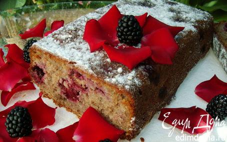 Рецепт Ароматный ореховый кекс с ежевикой