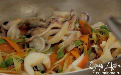 Рецепт Салат из осьминога с кремом из нута и розмарина