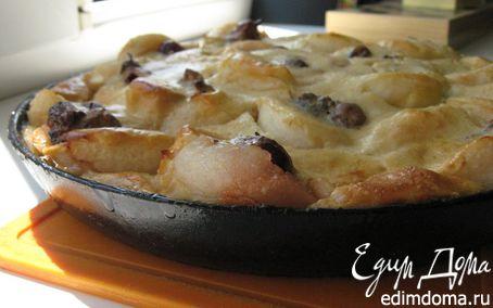 Рецепт Пирог из яблок со сметаной
