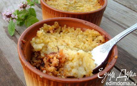 """Рецепт """"Пастуший пирог"""" с рисом"""