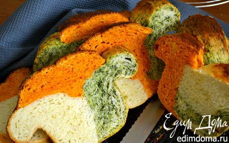 Рецепт Трехцветный хлебушек (для MERI) (pane tricolore)