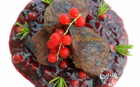 Рецепт Филе телятины с ягодно-луковым соусом