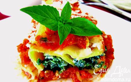Рецепт Каннелони со шпинатом и рикоттой