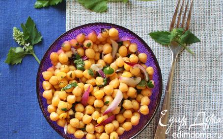 Рецепт Освежающий салат с нутом и мятой
