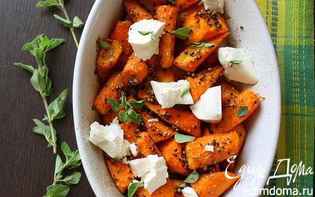 Рецепт Печеная морковь с овечьим сыром и перцем