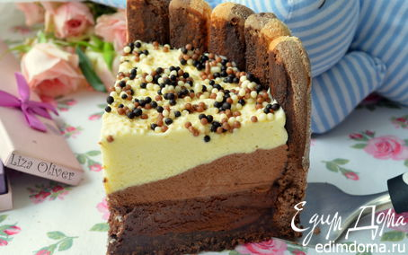"""Рецепт – Шоколадный торт из трех муссов """"Варенька"""""""