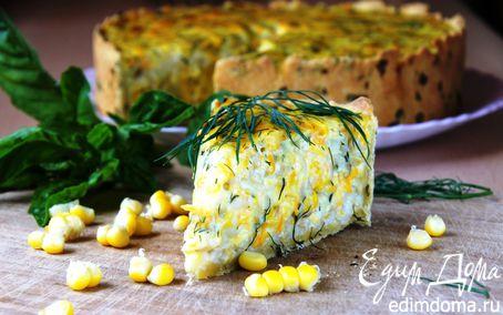 Рецепт Пирог с рисом и кукурузой