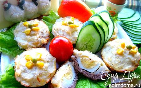 Рецепт Мясные корзиночки с рисовой лапшой в пароварке