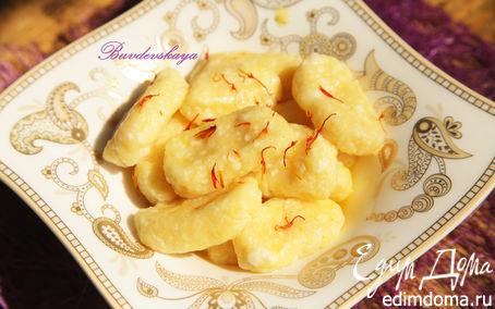 Рецепт Ленивые вареники с шафраном и лимонной цедрой