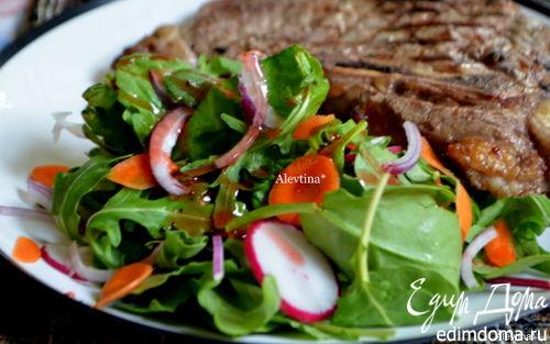 Рецепт Салат с листовой капустой и овощами