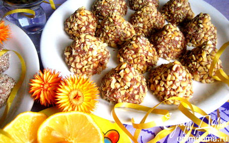 Рецепт Домашние трюфеля в орехах и сезаме