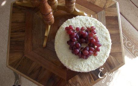 Рецепт Медово-сливочный торт с чернично-персиковым желе