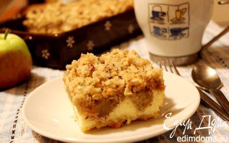 Рецепт Хрустящий творожный пирог с яблоками