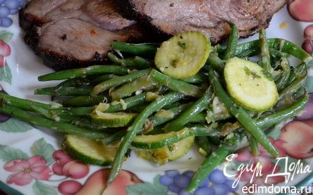 Рецепт Зеленая фасоль и цукини с соусом Verte