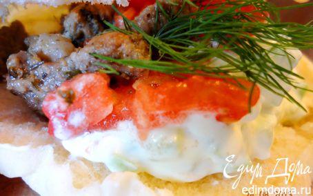 Рецепт Гирос в пите с соусом дзадзики