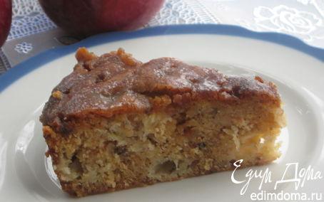 Рецепт Влажный яблочный пирог с коричным топпингом