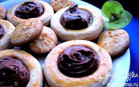 """Рецепт Песочное печенье с шоколадным наполнением (""""Школьная ссобойка"""")"""