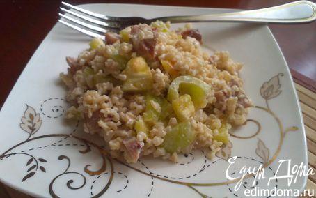 Рецепт Простой салат с копченой курицей