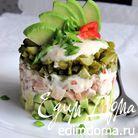 Салат из запеченного мяса
