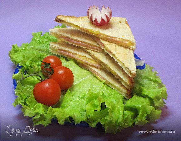 """Бутерброды в вафельнице (""""Школьная ссобойка"""")"""
