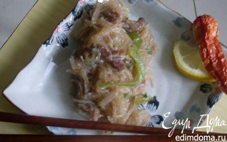 Рецепт Салат из стеклянной лапши с говядиной