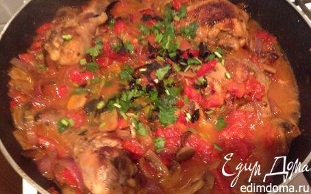 Рецепт Курица и шампиньоны с овощным соусом