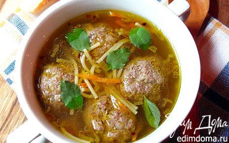 Рецепт Вермишелевый суп с гречневыми фрикадельками