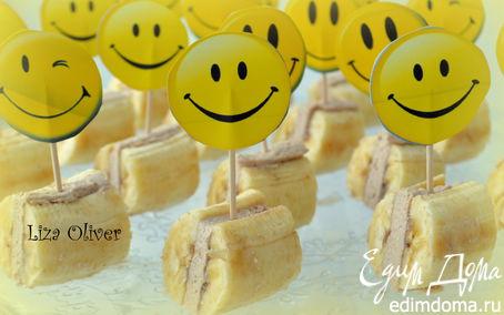 Рецепт Банановые мини-сэндвичи с творожным кремом