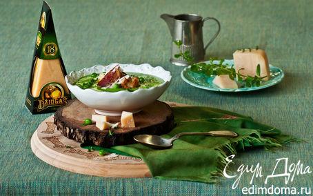 Рецепт Гороховый суп с гренками