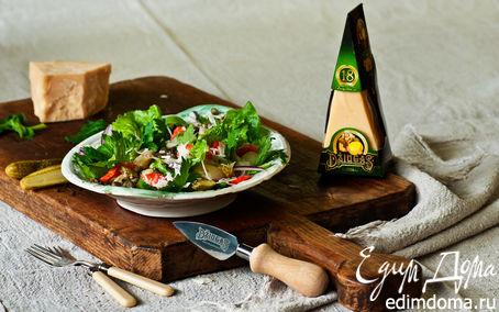 Рецепт Картофельный салат с лососем и сыром Джюгас