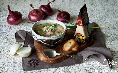 Рецепт Луковый суп с курицей и сыром Джюгас