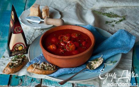Рецепт Томатный суп с сыром Джюгас