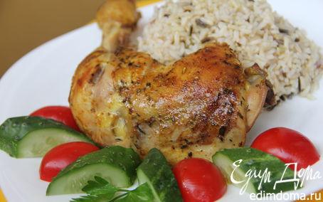 Рецепт Куриная голень, запеченная с травами