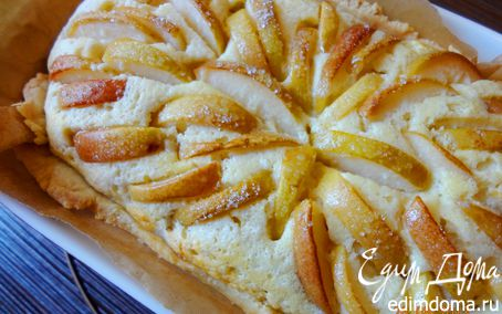 """Рецепт Творожный пирог с грушами """"Теплая осень"""""""