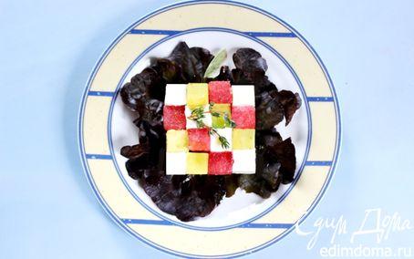 Рецепт Салат из арбуза с брынзой и авокадо