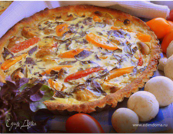 Овощной пирог на картофельном тесте