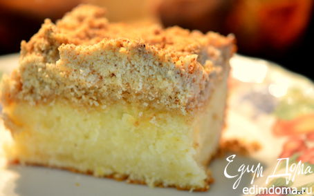 Рецепт Лимонный кекс с крошкой и лимонным кремом