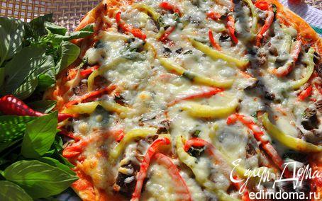 Рецепт Пицца мясная с болгарским перцем и сыром Джюгас