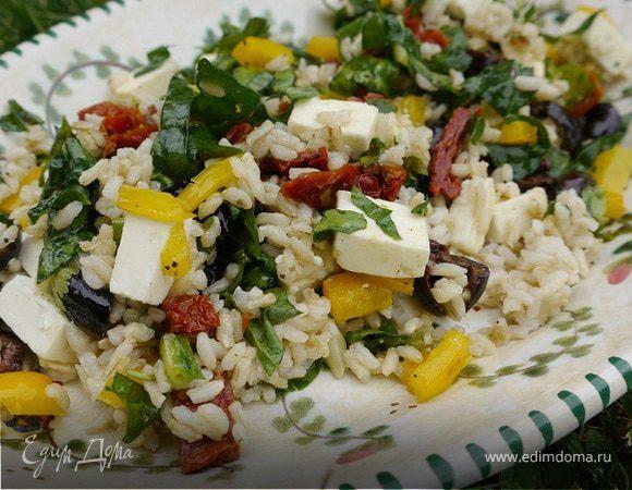 Греческий рисовый салат