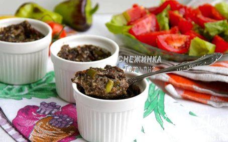 Рецепт Порционные грибные запеканки с томатами, стручковой фасолью и сыром Джюгас