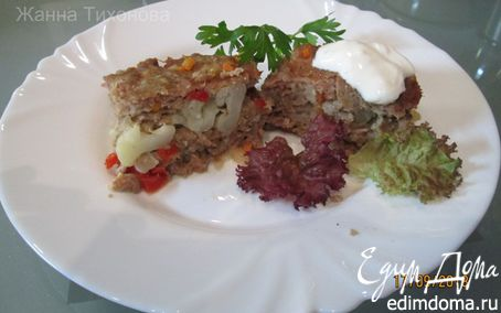 Рецепт Мясная запеканка с цветной капустой