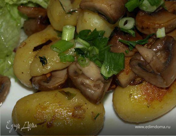 Картофель по‑деревенски с грибами